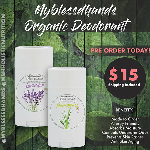 Myblessedhands ® Organic Deodorant