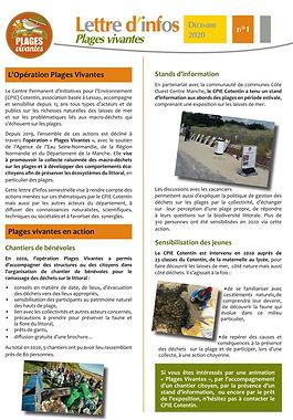 lettre Plages Vivantes n°1 déc 2020 -1èr
