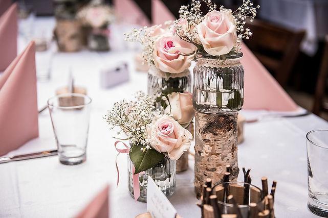 Hochzeitsdekoration Birke Vintage