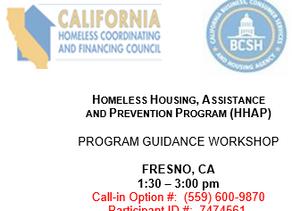 Homeless Housing, Assistance and Prevention Program (HHAP) Program Guidance Workshop