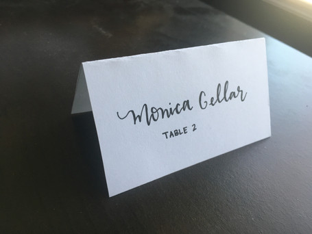 Tented place card