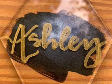 Handlettered Place Card