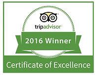 TripAdvisor 2016 Winner Logo