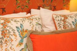 Closeup on pillows