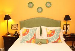 Room 5b, Deep yellow room, bed