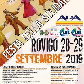 """28 e 29/09, a Rovigo torna la """"Festa della Solidarietà"""""""