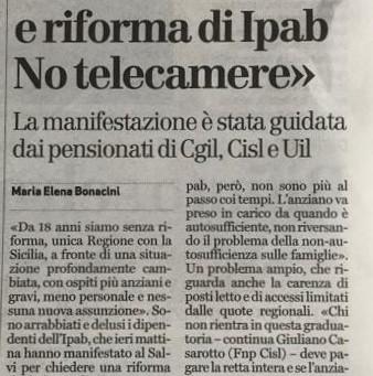 Vicenza, al Salvi la protesta per la riforma delle Ipab