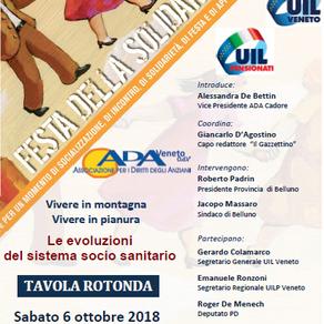2° Festa della Solidarietà: sabato 6 ottobre a Belluno