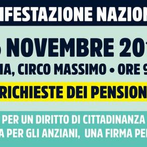 Il 16 novembre manifestazione nazionale a Roma