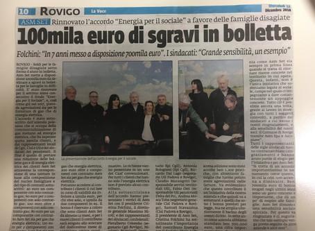 """""""100mila euro di sgravi in bolletta"""""""