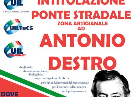 Montegrotto Terme ricorda Antonio Destro