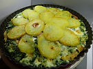 פשטידת תרד ותפוחי אדמה