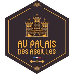 logo heraldique fond marron hexagone