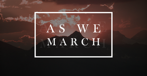 As we march...