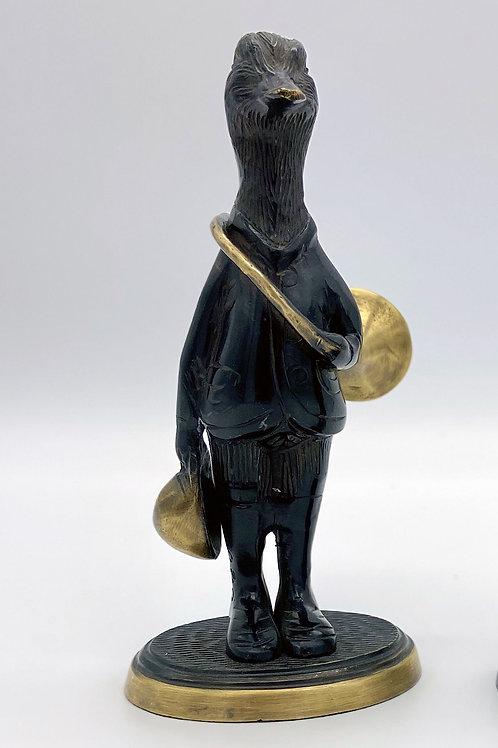 Canard et cor de chasse en métal
