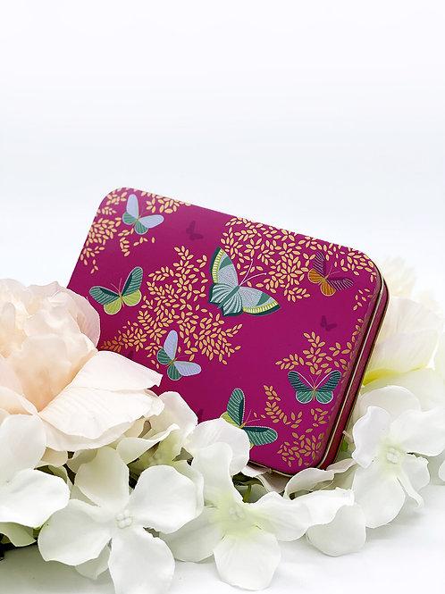 Boîte rectangulaire  Pink Butterfly Sara Miller