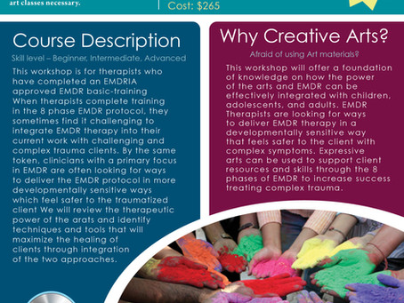 EMDR and Art Therapy- June 18/19