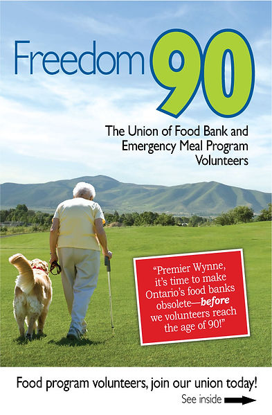 Brochure for Freedom 90 The Union of Food Bank Volunteers