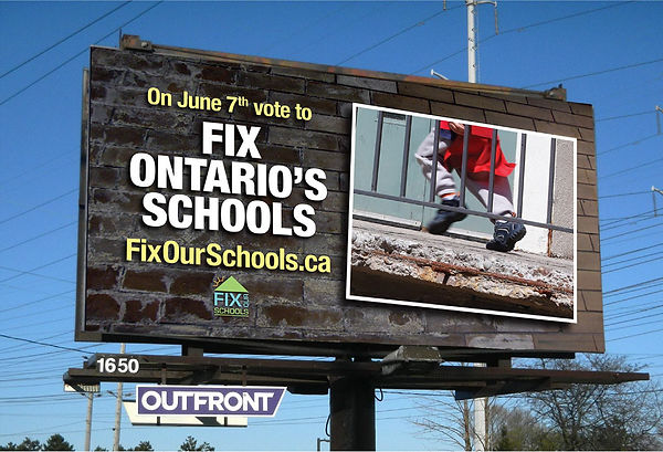 Billboard Ad Campaign - Fix Our Schools - 2018