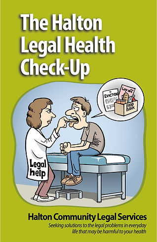 The Halton Legal Health Check-Up - Design and Illustration by Tony Biddle - Copyright