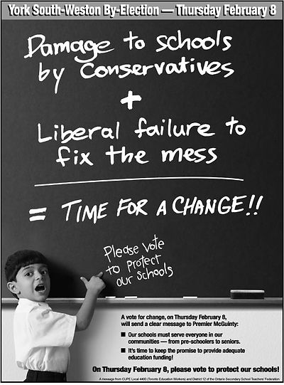 Ad for Public Education - Time for a Change - 2007 - CUPE 4400