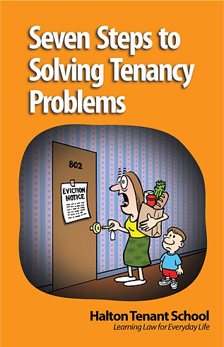 Seven Steps to Solving Tenancy Problems - Design and Illustrations by Tony Biddle - Copyright