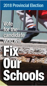 Campaign brochure for Fix Our Schools