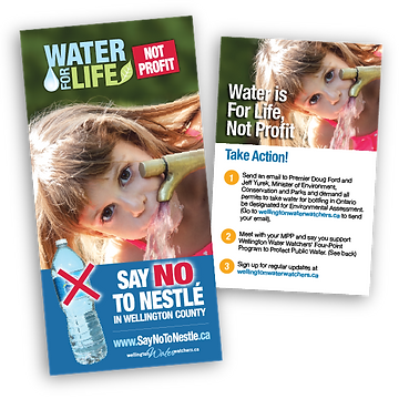 Campaign materials for Wellington Water Watchers