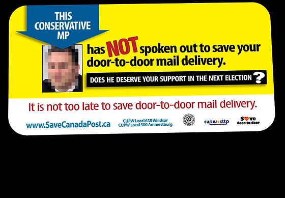 Billboard Ad - CUPW Save Door-to-Door Campaign - 2015