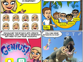 Snapchat Introduces Bitmoji Stickers
