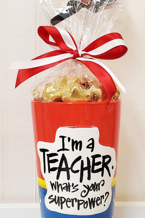 """""""I'm a Teacher"""" Vase"""