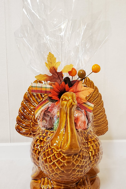 Golden Turkey Figurine