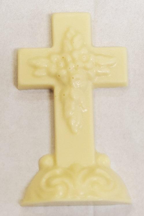 White Chocolate Flat Cross
