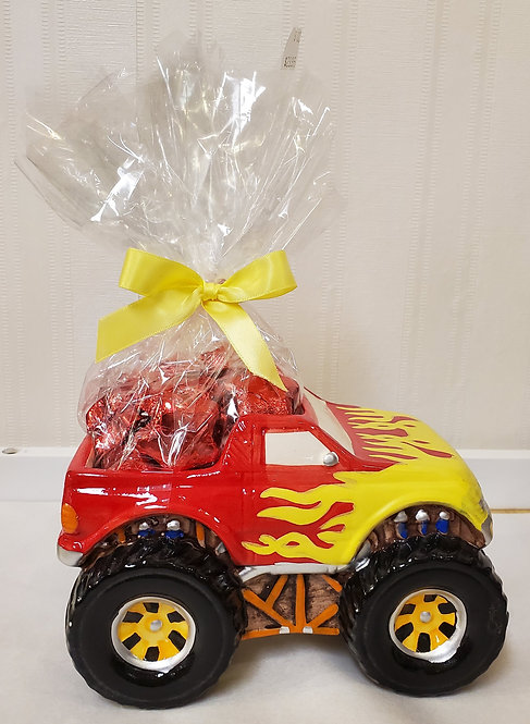 Red Monster Truck Ceramic