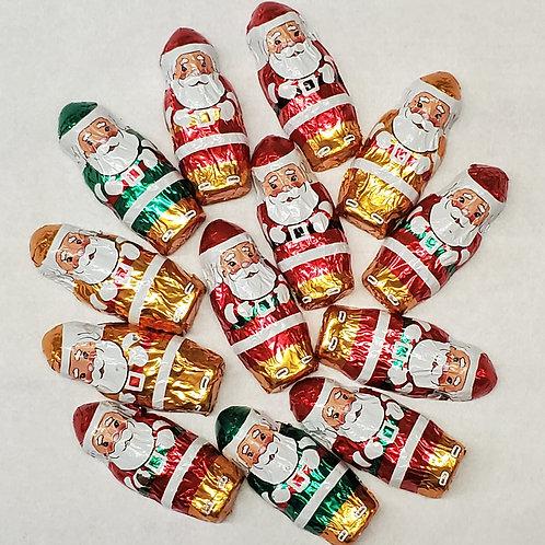 Milk Chocolate Foiled Santas