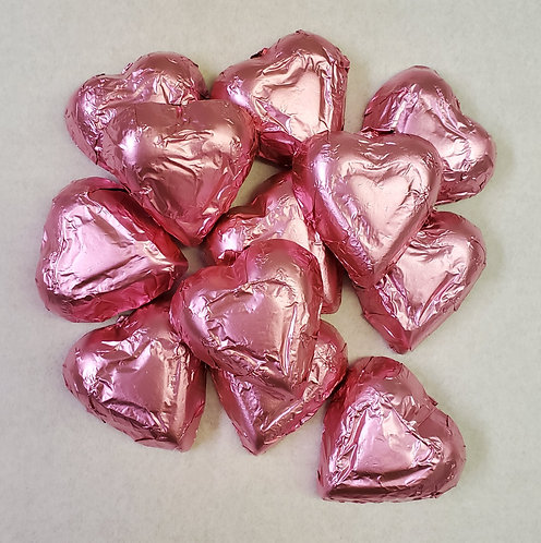 Milk Chocolate Pink Hearts