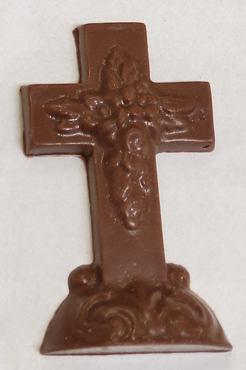 Milk Chocolate Flat Cross