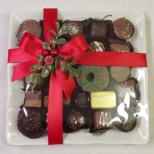 """Merry Christmas"" Poinsetta Plate"