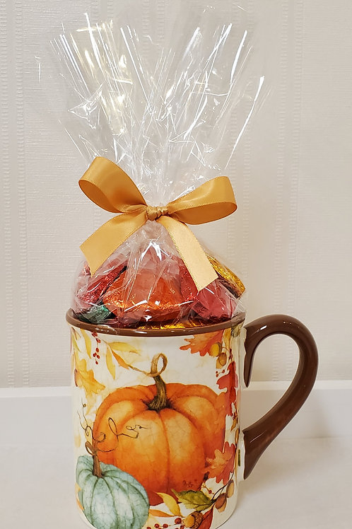 Brown Rim Pumpkin Mug