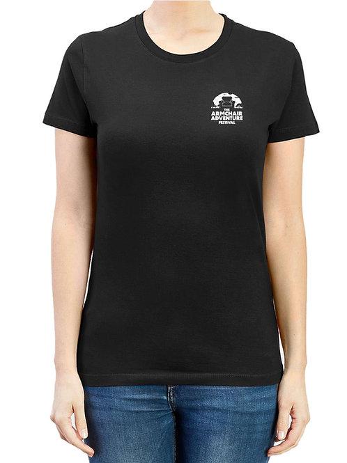 Armchair Adventure Festival T-Shirt – Black (Womens)