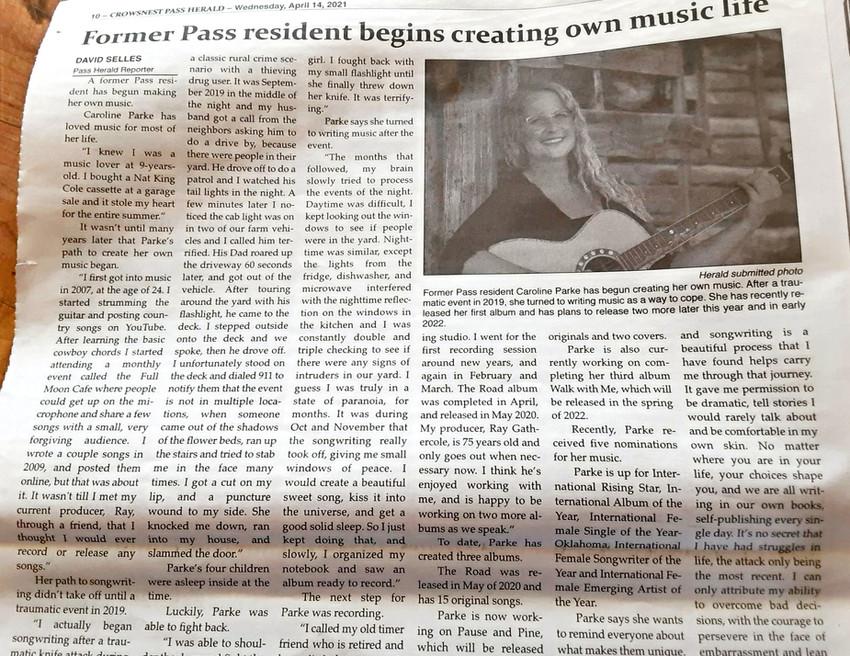 Pass Herald April 21st, 2021