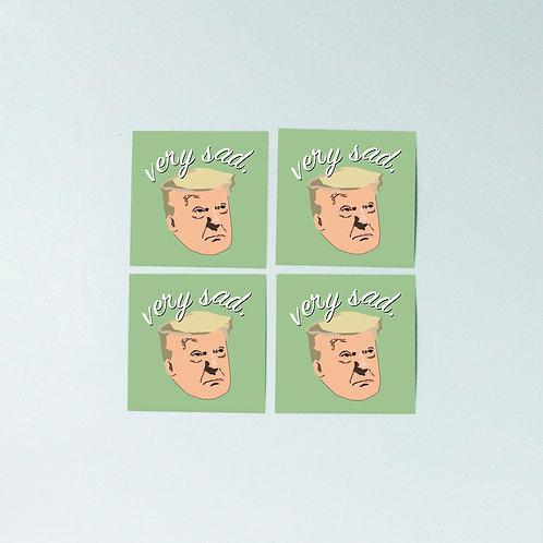 Sad trumpie sticker