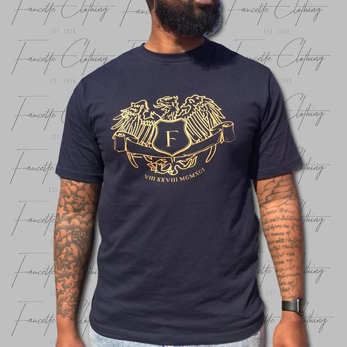 Navy Golden Shield Short Sleeve Shirt