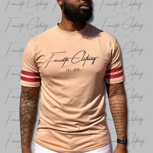 Cream/Burgundy/Navy OG Short Sleeve Shirt