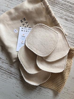 Pack de lingettes en coton bio certifié
