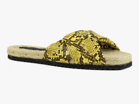 Sandales naturelles impressions pythons