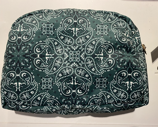 Grande pochette bandana vert foncé