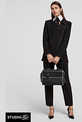 Sac cuir noir Karl Lagerfeld