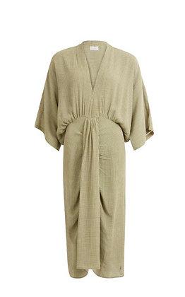 Robe kimono à petits carreaux
