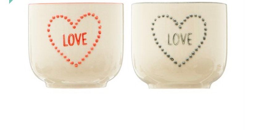 Duo petits pots Love